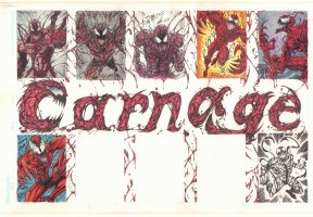 Carnage Jam Piece - 2009 art by Steven Butler, Andy Smith, and Others Comic Art