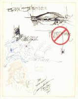 Convention Jam Piece - Signatures by Brian Stelfreeze, Leialoha & Todd McFarlane Comic Art