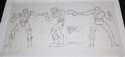 Toy Biz Design Art - X-Men: Cyclops - 1990's Signed Comic Art