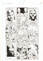 Legion of Super-Heroes #35 p.14 - Aliens and Legionnaires - 9 Panel Page - 1992 Signed Comic Art