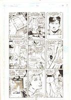 Legion of Super-Heroes #36 p.8 - Valor and Lightning Lass - 1992 Signed Comic Art