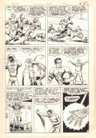 New Adventures of Superboy #41 p.7 - Football in Smallville - Clark Becoming a Robot! - 1983 Comic Art
