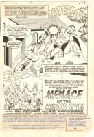 New Adventures of Superboy, The #36 p.1 - 'Menace Of The Mind's Eye!' Title Splash - William Wright vs. Superboy - 1982 Comic Art