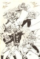 Jim Lee's WildCats and Hard Corps Promo Piece- Double Signed Comic Art