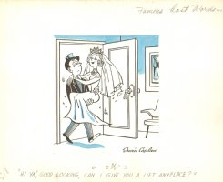 Famous Last Words  Newly Wed Gag - Late 1940's Comic Art