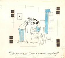 Dirty  Book Cover Gag - 1953  Comic Art
