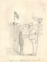 Drill Sergeant Army Gag - (8.5 x 11 ) on Paper Comic Art