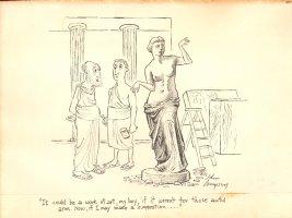 Venus de Milo  Before  Gag Sculpture Late 1940 Comic Art
