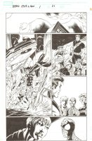 BBDO Campbell's Diversity: Ultimate Spider-Man/Ultimate X-Men #1 p.21 - Cyclops, Colossus, Wolverine, Storm, and Spidey - 2009 Signed by Mark Bagley Comic Art