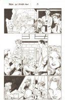 BBDO Campbell's Diversity: Ultimate Spider-Man/Ultimate X-Men #1 p.3 - Peter, MJ, and Liz Allan in Class - 2009 Signed by Mark Bagley Comic Art