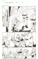Ultimate Spider-Man #68 p.2 - Fantastic Four at the Baxter Building - 2005  Signed by Mark Bagley Comic Art