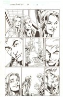 Ultimate Spider-Man #68 p.13 - MJ and Johnny Storm in High School - 2005  Signed by Mark Bagley Comic Art