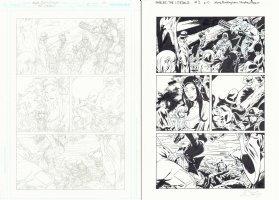 Fables: Literals #2 p.10 - Pencil and Ink Pages Sold as a Pair - 2009 Signed Comic Art