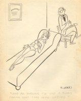 Lingerie Babe - at Shrink Gag (8.5 x 11 Comic Art