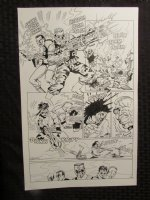 Planet Of The Apes #? p.10 Human Team All Action! Comic Art