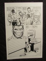 Planet Of The Apes #? p.25 Mongo & Dr. Benday Comic Art