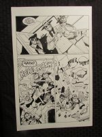 Planet Of The Apes #? p.27 vs. Gangster Apes Comic Art