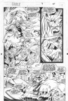 Cable #9 p.19 - Cable vs. Omega Red - 1994 Comic Art