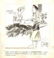 Cuties  - King Features - Wife Shopping 3-11-1967 Comic Art