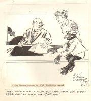 Cuties  2-4-1967 Monkey for Mayer Gag Comic Art