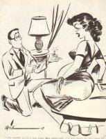 All Dated Up  Proposal Gag - 1956 Humorama Comic Art