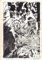 Marvel Universe #7 Cover - Ulysses Bloodstone, Dr. Druid, Zawadi, Makkari, & Mole Man - 1998 Signed Comic Art