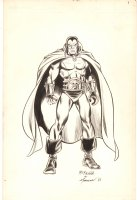 Drax the Destroyer Illo - 1986 Signed Comic Art