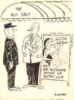 Nude Dancer / Hot Babe  / Club Owner Gag - Humorama 1968 Comic Art