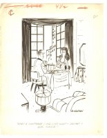 Nightmare with Babe Humorama Gag - 1965 Signed Comic Art