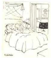 Fortune Teller Hooker Humorama Gag - Signed Comic Art