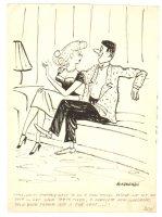 Jerk Guy Proposes Humorama Gag - 1955 Signed Comic Art