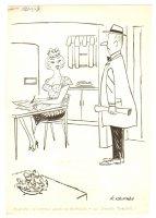 House Wife 'No Dinner' Humorama Gag - 1957 Signed Comic Art