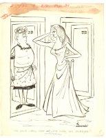 Babe Wants to Play Humorama Gag - 1968 Signed Comic Art