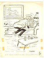 Couple Getting Busy Humorama Gag - 1955 Signed Comic Art