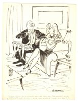 Hot Young Babe with Old Fart Humorama Gag - 1961 Signed Comic Art