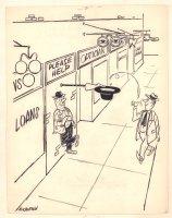 Panhandler Humorama Gag - Signed Comic Art