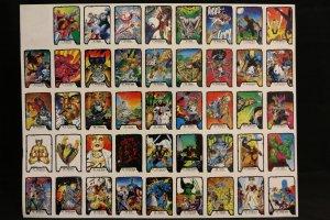 Jim Lee II Trading Cards Sheet Color Art Proofs Printer Separation and Box Art Wolverine, X-Men, Hulk- 1991 Comic Art