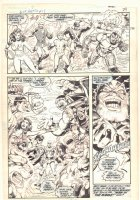 Blue Beetle #13 p.5 - Teen Titans Wonder Girl, Starfire, and Nightwing Action - 1987  Comic Art