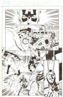 Last Hero Standing #5 p.15 - Captain America, Spider-Girl, & Others vs. Loki - 2005 Signed Comic Art