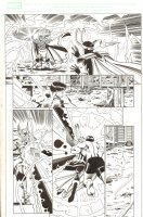 Last Hero Standing #5 p.19 - Thor and Hulk vs. Loki - 2005 Signed Comic Art