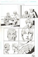Booster Gold #42 p.17 - Booster & The Perforated Man - 2011 Signed Comic Art