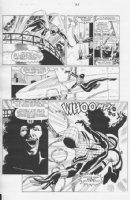 Spider-Girl #2 p.21 All Action vs 8 Ball Comic Art