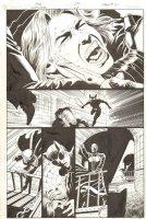 Catwoman #28 p.21 - Face Slashing Action - 2004 Signed Comic Art