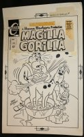 Magilla Gorilla #4 Cover - LA - Charlton - 1971 Signed Comic Art
