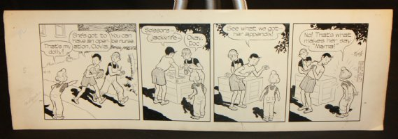 Gasoline Alley Daily Strip - 10/13/1951 Comic Art