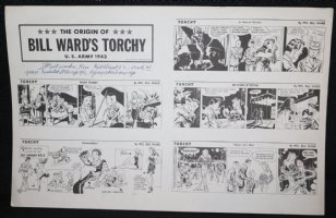 The Origin of Bill Ward's Torchy STAT - 1983 Signed Comic Art