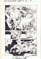 JLA: Classified #43 p.6 - Black Canary and Green Arrow vs. Deadshot - 2007 Signed Comic Art