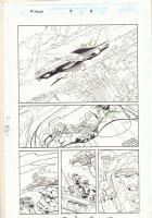 Rampaging Hulk #5 p.5 - Whole Fantastic Four in the Fantasticar - 1998 Signed Comic Art
