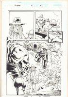 Rampaging Hulk #6 p.3 - Great Werewolf vs. Hulk. - 1999 Signed Comic Art