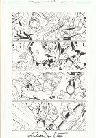 Superman #670 p.21 - Powergirl, Superman, and Batman Action - 2008 Signed Comic Art